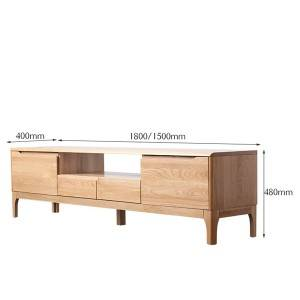 Modern and Simple Solid Wood Small Apartment TV Stand# 0019
