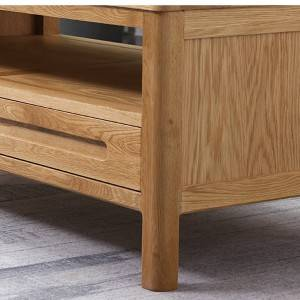 Modern Minimalist White Oak Solid Wood Coffee Table#Tea Table 0008