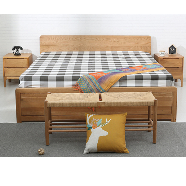 High box bed solid wood double bed storage bed#0111 Featured Image