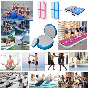 Inflatable drawing yoga dance gym mat  inflatable air track 0384