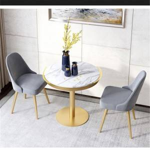 Nordic restaurant wrought iron dining table and reception area furniture 0348
