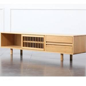 Minimalist modern solid wood living room TV stand# 0022