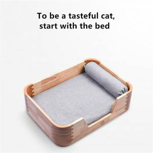 Solid Wood Cat Bed Princess Wind Cute Little Bed 0226