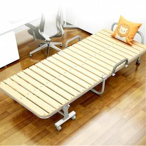 Domestic Adult Furniture Wooden Metal Bed 0212-2