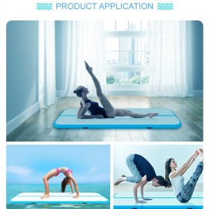 China Factory 8M 10M Colorful Customize Air Trick Pool Float Inflatable Yoga Mat  0395