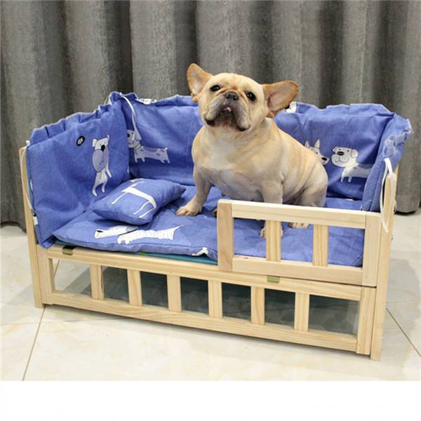 High-Grade Dog Kennel Solid Wood Frame Pet Bed 0214 Featured Image