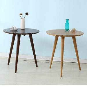 Simple move leisure crutches solid wood round table# Tea Table 0012