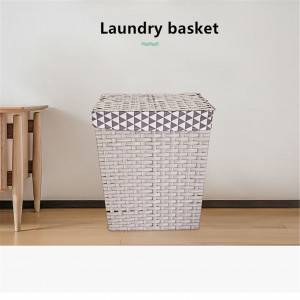 Imitation Rattan Woven Garment Basket of Large Capacity 0211
