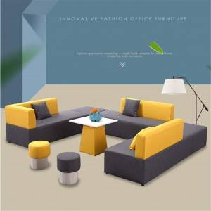 The Corner of The Office Is a Solid Wood Frame #Sofa 0195