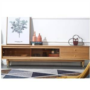 Nordic Simple Solid Wood  Small Apartment Living Room TV Stand# 0017