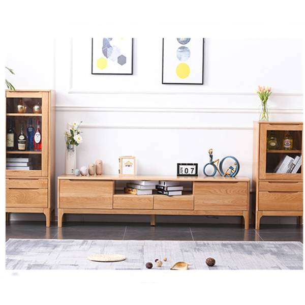 Modern and Simple Solid Wood Small Apartment TV Stand# 0019 Featured Image