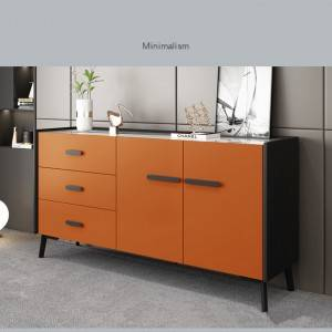 Solid wood kitchen cabinet modular pantry cabinet furniture