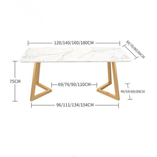 Modern wrought iron dining table simple dining room furniture 0549