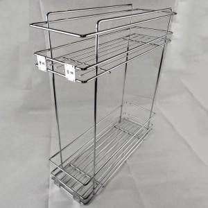 331 Series two layer side mount metal sliding wire basket pull out drawer