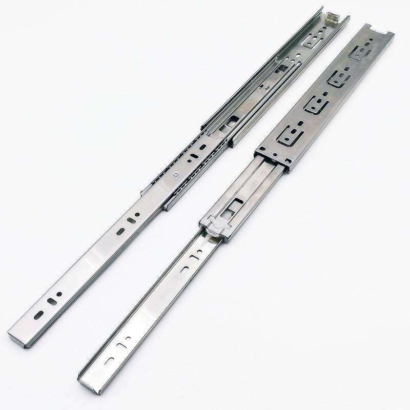 45mm Full extension stainless steel drawer sliding roller telescopic runner Featured Image