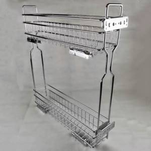 303 Series clip-on narrow pull out sliding wire basket drawer