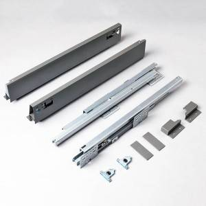 Double Wall Metal Sliding Drawer System