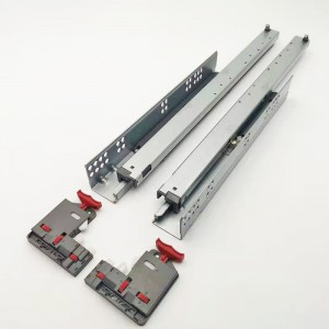 Full Extension Synchronous Moving Soft Closing Concealed Drawer Runner With 3D Front Brackets