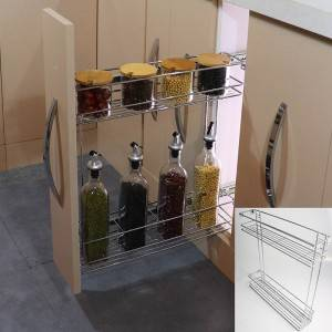332 Series kitchen cabinet side mount wire basket pull out drawer