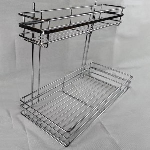 325 Series large & small two layer side mount flat iron wire basket drawer