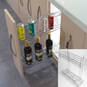 321 Series side mounted pull out metal sliding wire basket drawer for kitchen cabinets