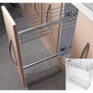 "351 Series side mount wire basket drawer with 18"" soft close concealed slides"