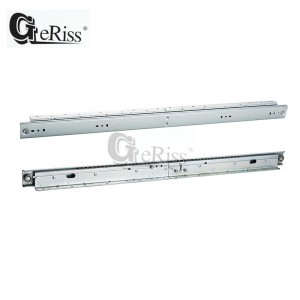 Width 48mm telescopic channel slide for double extension dinning tables