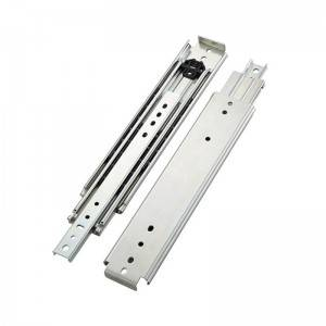 225 KGS (500 lbs) Full Extension Industrial Heavy Duty Telescopic Channel Drawer Slide Rail (76mm Width)