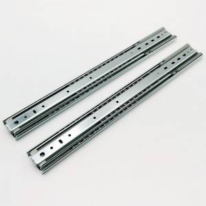 53mm Full extension soft close heavy duty telescopic slide,ball bearing drawer runner