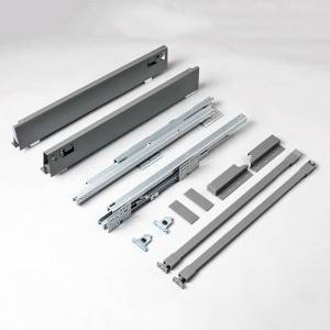 Drawer box system for metal drawers and silent smooth pull outs