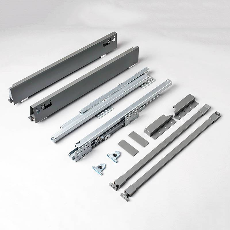 Drawer box system for metal drawers and silent smooth pull outs Featured Image