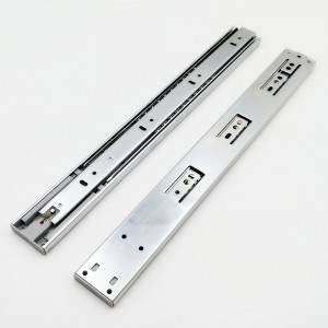 Push to open drawer runners slides, full extension, H45 ball bearing telescopic channel