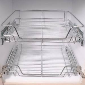 502 Series Germany type pull out soft closing wire basket drawer