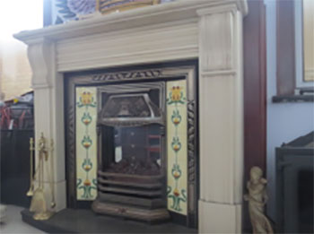 Fireplace Combined With Tiles