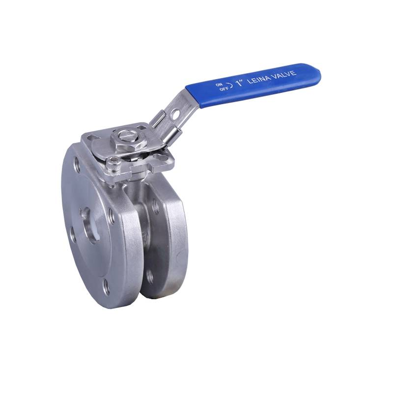 Wafer ball valve with direct mounting pad