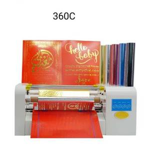 Hot roll foil machine