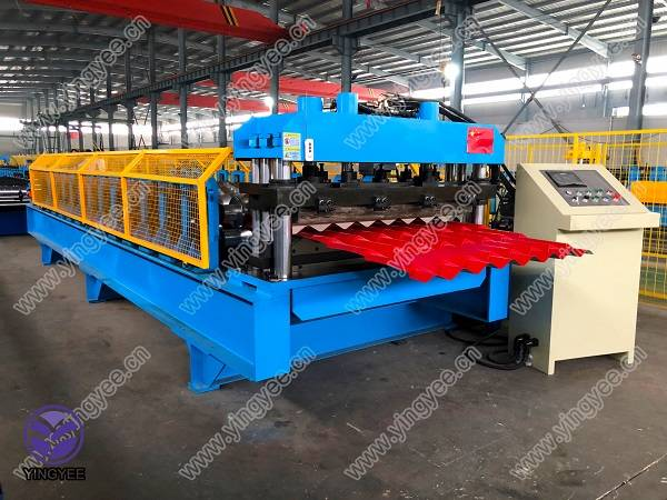 Glazed Tile Roof Panel Machine with gear box Featured Image