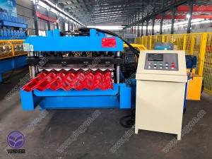Glazed Tile Roof Panel Machine with gear box