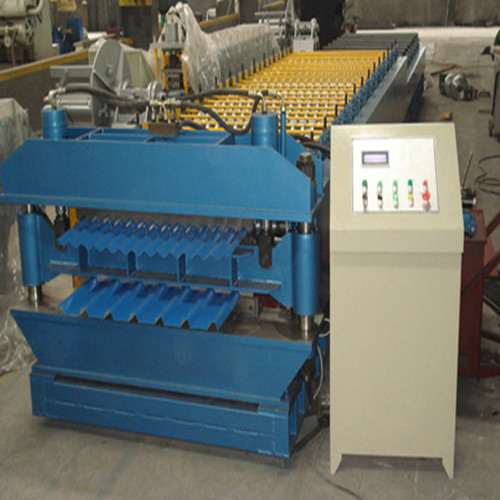 double deck double layer roof sheet forming machine