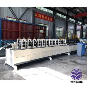 High speed without noises steel angle stud and track light keel roll forming machine
