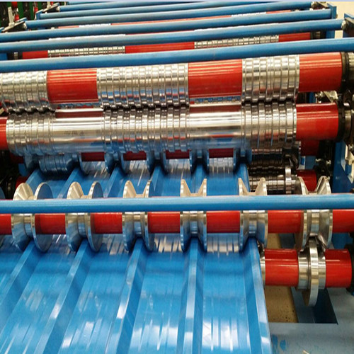Galvanized metal Trapezoid Roof Sheet forming Machine Featured Image
