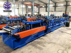Fully automatic CZU purlin roll forming machine