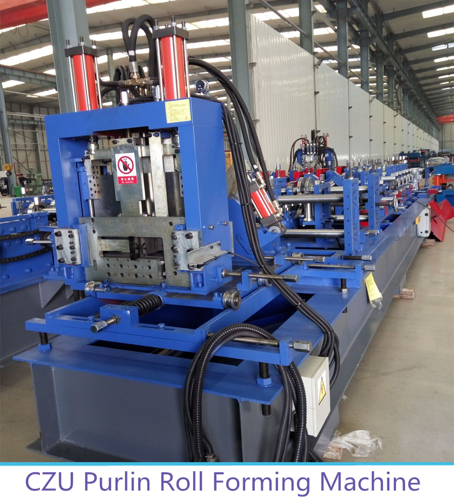 CZU steel purlin frame roll forming machine