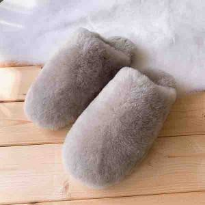 Lady Colorful Close Toe Sheepskin Slipper