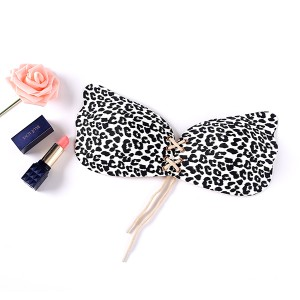 Sexy Leopard Print Adhesive Bra for women Strapless Breathable Backless Bra & Brief Sets Push Up Sticky Bra Adhesive Bra