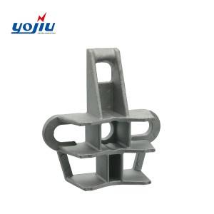 Aluminum Alloy Pole Support For Optic Fiber Anchor Clamp YJCS1200 And YJCS1300