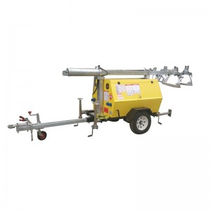 Moveable lighting tower diesel generator set