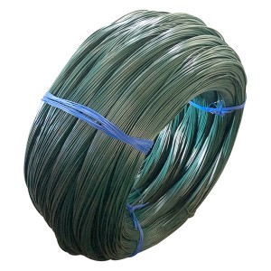 Low carbon steel wire with plastic coated pvc wire/pvc coated iron wire
