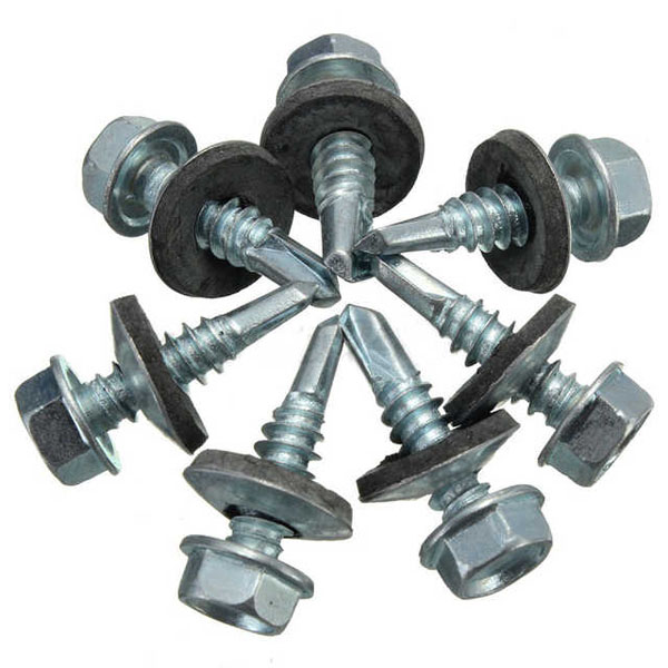 China wholesale hex head self-drilling screw hexagon roof rubber washers self drilling screw Featured Image