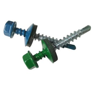 China wholesale hex head self-drilling screw hexagon roof rubber washers self drilling screw